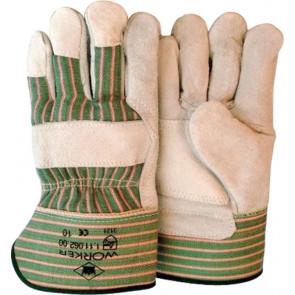 Splitleder werkhandschoenen met palmversterking