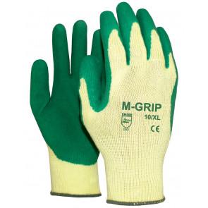 M-Grip werkhandschoen met groene opvoering