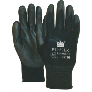 PU-Flex Nylon werkhandschoenen zwart