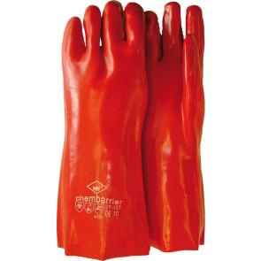 PVC werkhandschoen rood premium 27cm