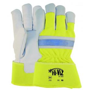 Gele handschoen met extra zichtbaarheid voor meer veiligheid