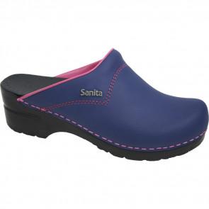 Sanita sanflex 314 jeansblauw, roze accent