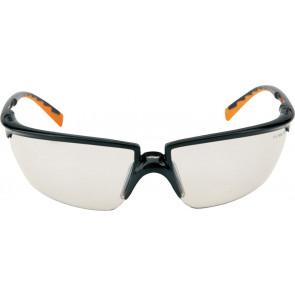 3M Solus veiligheidsbril met optimale pasvorm, gezichtsveld en bescherming (zwart/oranje montuur en I/O lens)