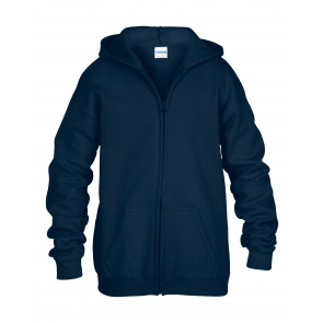 Gildan Hood Full Zip Kids Sweater