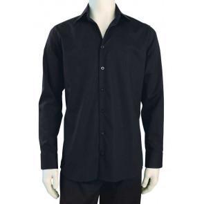 Chaud Devant Heren Zwart Stretch Overhemd