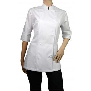 Chaud Devant Lady Comfort Wit 3/4 Sleeve Koksbuis