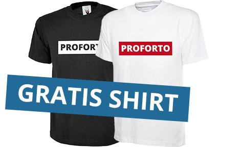 Proforto T-Shirts wit en zwart